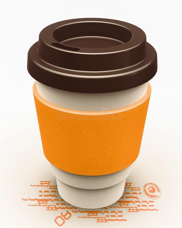 Φλυτζάνι εγγράφου καφέ απεικόνιση αποθεμάτων