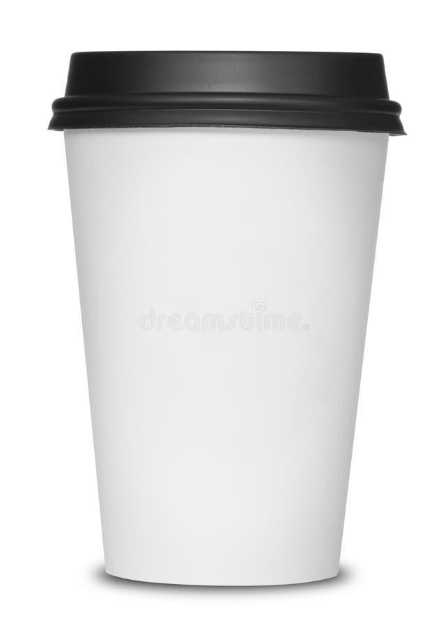 Φλυτζάνι καφέ εγγράφου στοκ εικόνες