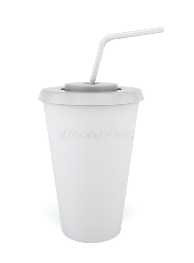 Φλυτζάνι ποτών με το άχυρο απεικόνιση αποθεμάτων