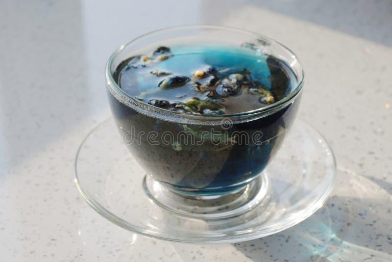 Φλυτζάνι του μπλε τσαγιού στοκ φωτογραφίες