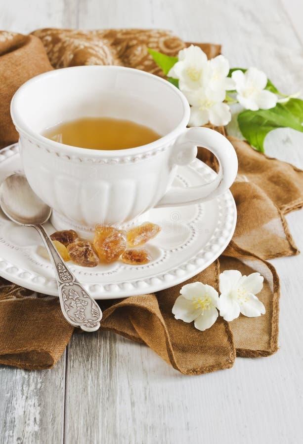 Φλυτζάνι jasmine του τσαγιού στοκ εικόνα με δικαίωμα ελεύθερης χρήσης