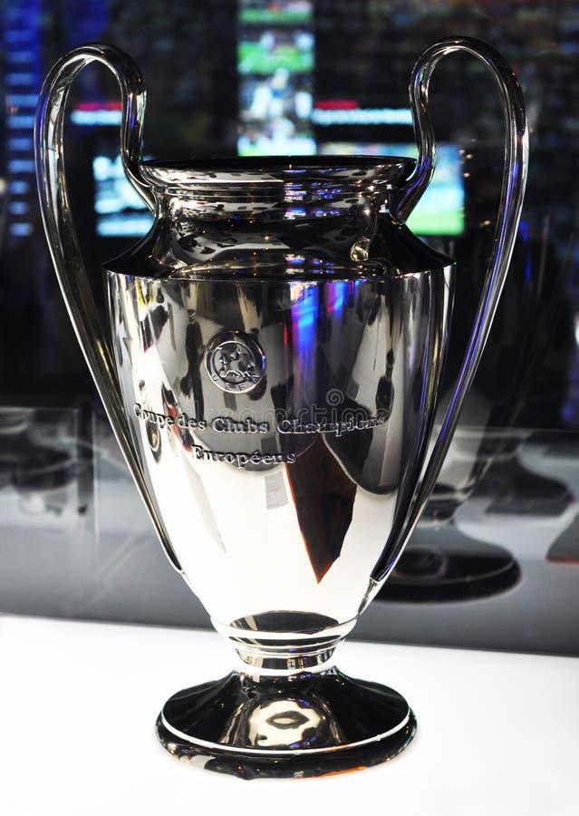Φλυτζάνι UEFA Champions League στο μουσείο στοκ φωτογραφία
