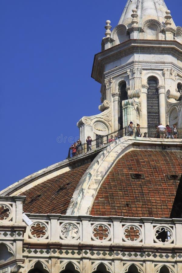 Φλωρεντία, ο καθεδρικός ναός, στην κορυφή στοκ εικόνες
