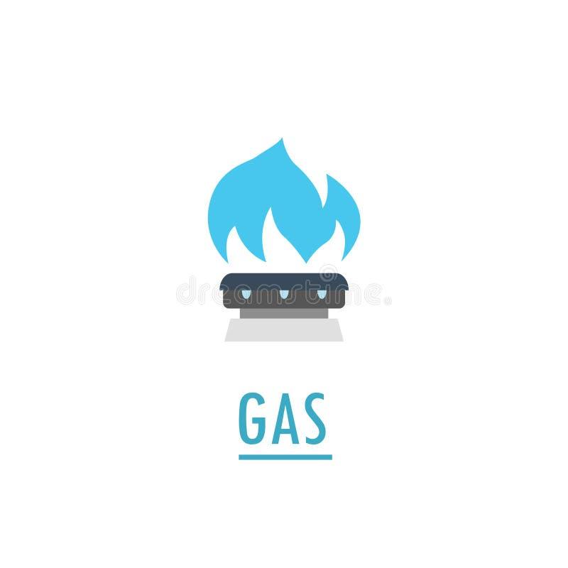 Φλόγα αερίου που απομονώνεται διανυσματική απεικόνιση