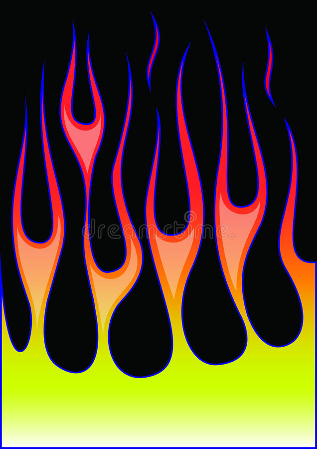 Φλόγες καυτός-ράβδων διανυσματική απεικόνιση
