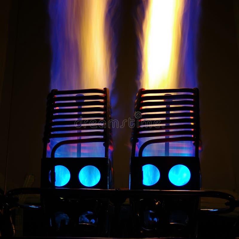 Φλόγες 3 μπαλονιών ζεστού αέρα στοκ εικόνα