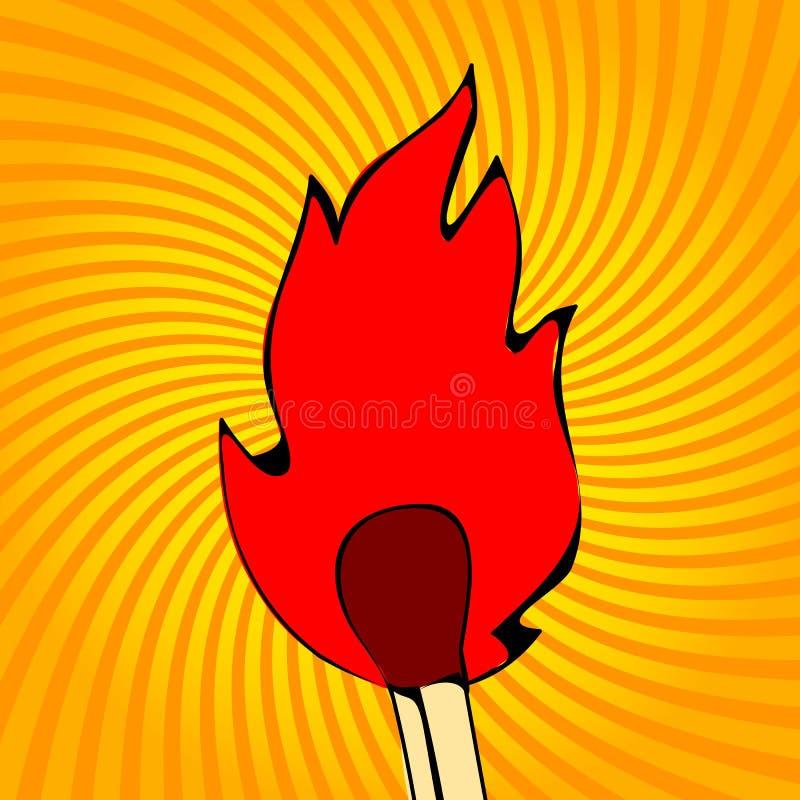 Φλόγες πυρκαγιάς, καθορισμένα εικονίδια, απεικόνιση απεικόνιση αποθεμάτων