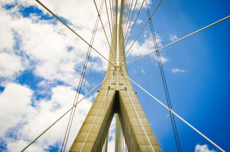 """Χάβρη, Γαλλία - 29 Ιουνίου 2012 Γέφυρα """"Pont du Normandie """" στοκ εικόνες με δικαίωμα ελεύθερης χρήσης"""