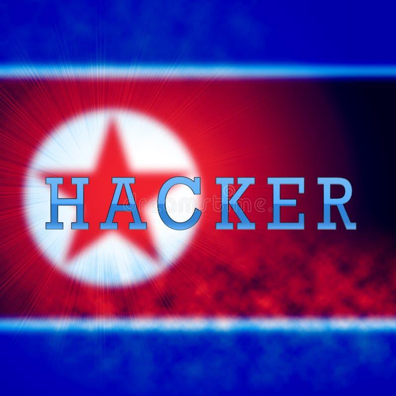 Χάκερ από τρισδιάστατη απεικόνιση βόρειας την κορεατική επίθεσης απεικόνιση αποθεμάτων