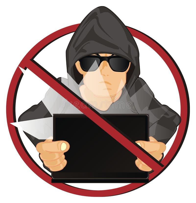 Χάκερ στην απαγόρευση ελεύθερη απεικόνιση δικαιώματος