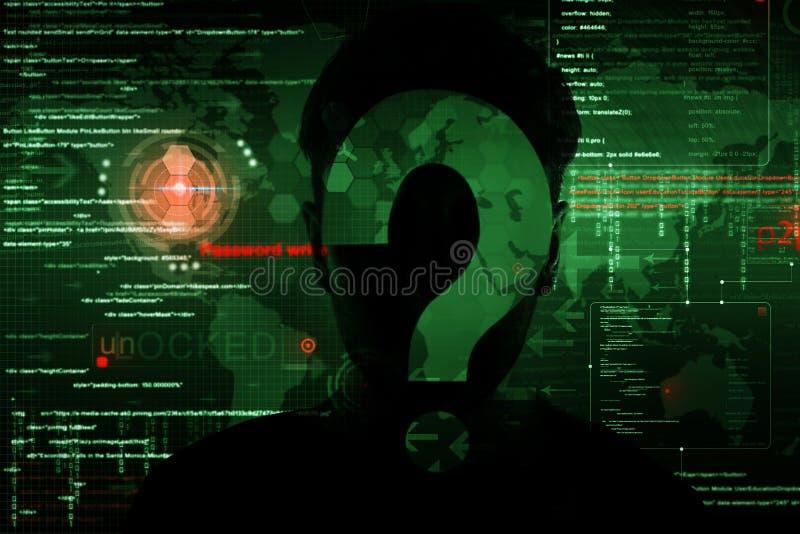 Χάκερ στην εργασία στοκ εικόνες με δικαίωμα ελεύθερης χρήσης