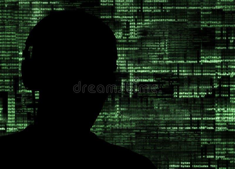 Χάκερ στην εργασία στοκ φωτογραφία με δικαίωμα ελεύθερης χρήσης