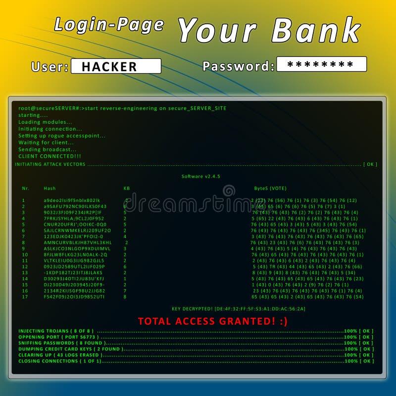 χάκερ διανυσματική απεικόνιση