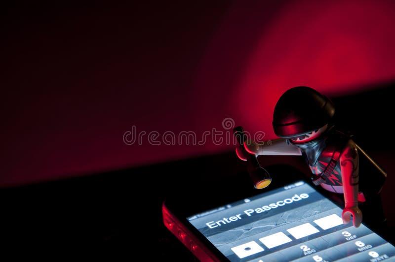 χάκερ playmobil στοκ εικόνα