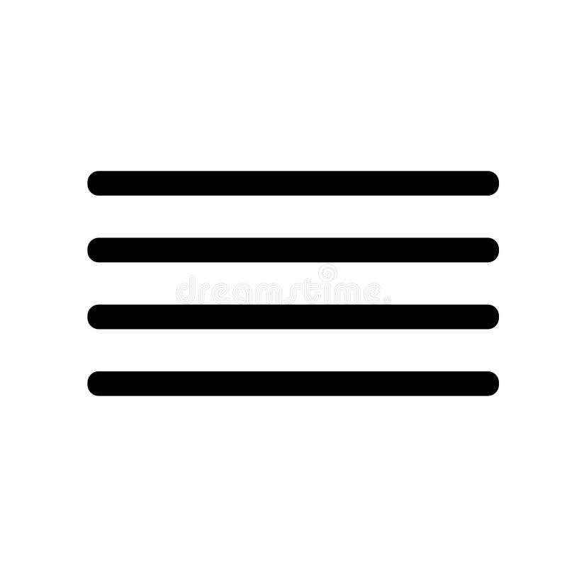 Χάμπουργκερ, γραμμές, εικονίδιο επιλογών απεικόνιση αποθεμάτων