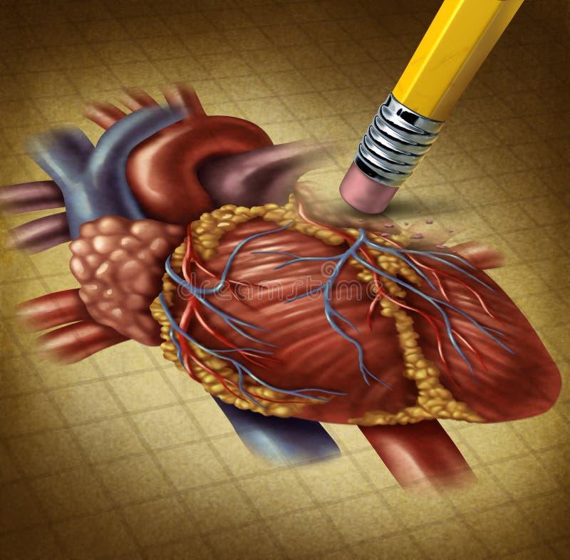 Χάνοντας ανθρώπινη υγεία καρδιών διανυσματική απεικόνιση