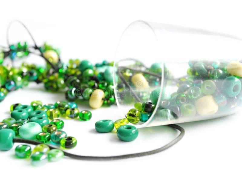 χάντρες πράσινες στοκ εικόνες με δικαίωμα ελεύθερης χρήσης