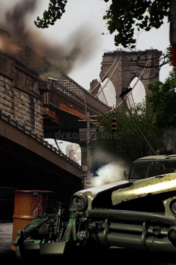 Χάος στην πόλη διανυσματική απεικόνιση