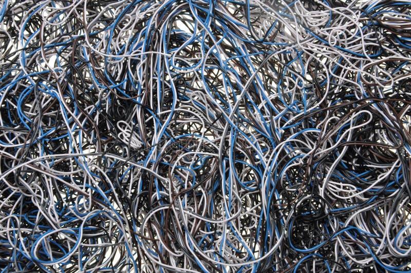 Χάος των καλωδίων δικτύων στοκ φωτογραφίες