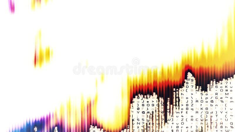 Χάος 0256 ψηφιακών στοιχείων ελεύθερη απεικόνιση δικαιώματος