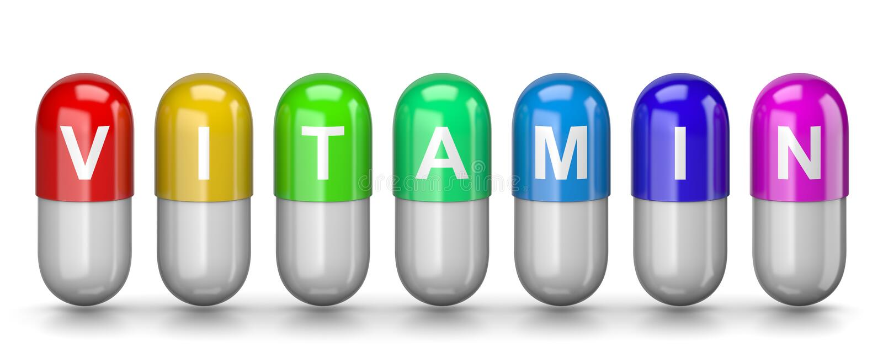 Χάπια βιταμινών ελεύθερη απεικόνιση δικαιώματος