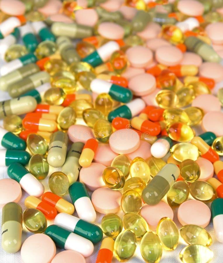 χάπια διάφοροι τύποι στοκ εικόνες