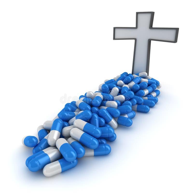 χάπια θανάτου διανυσματική απεικόνιση
