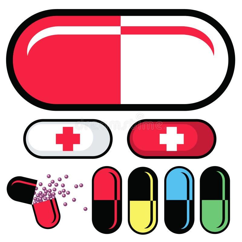 χάπια ιατρικής φαρμάκων καψ απεικόνιση αποθεμάτων