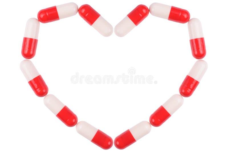 χάπια καρδιών στοκ φωτογραφία