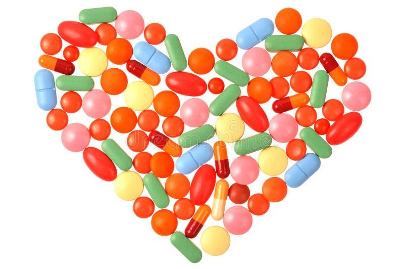 χάπια καρδιών στοκ εικόνες με δικαίωμα ελεύθερης χρήσης