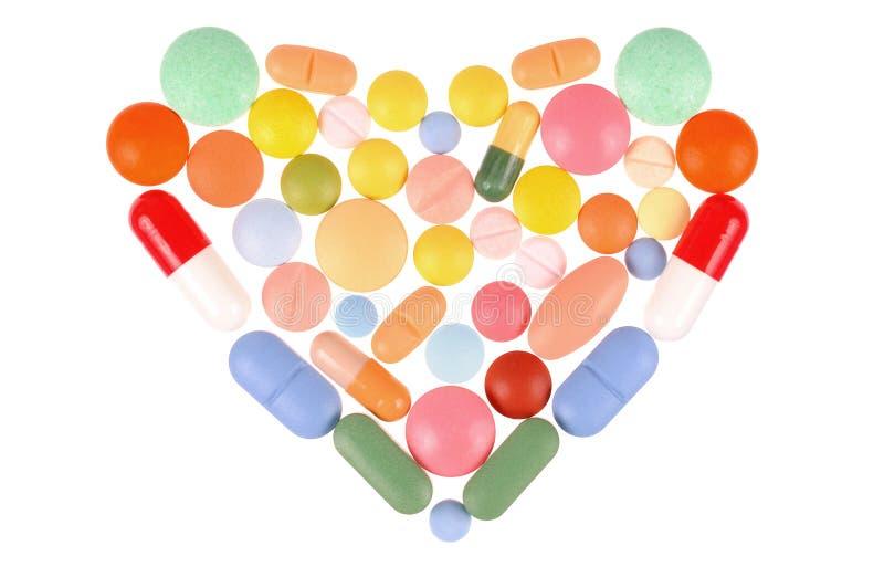 χάπια καρδιών στοκ εικόνα με δικαίωμα ελεύθερης χρήσης