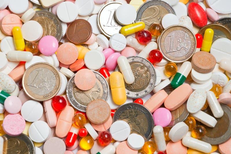 χάπια μερών νομισμάτων αυτοί στοκ εικόνες