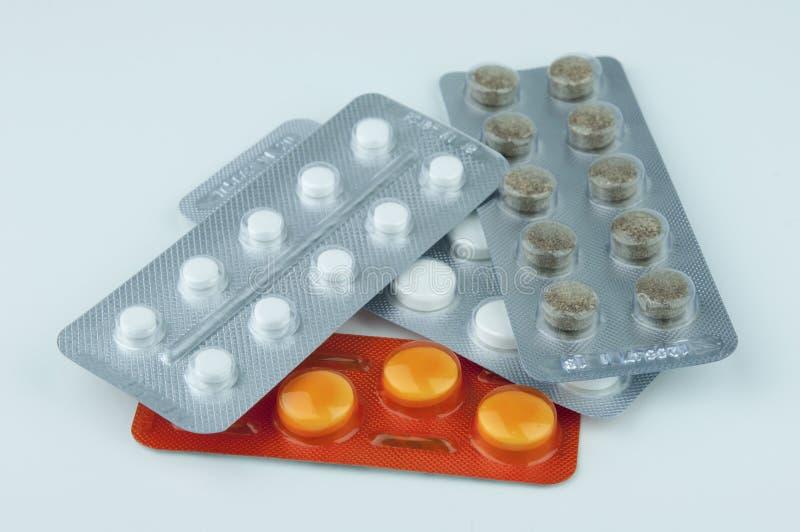 Χάπια σε ένα πακέτο φουσκαλών στοκ φωτογραφία με δικαίωμα ελεύθερης χρήσης