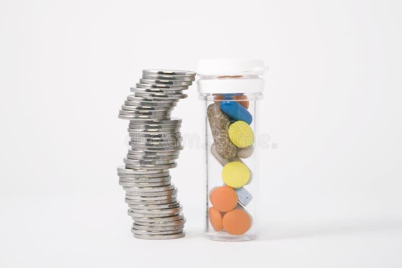 χάπια χρημάτων στοκ εικόνες με δικαίωμα ελεύθερης χρήσης