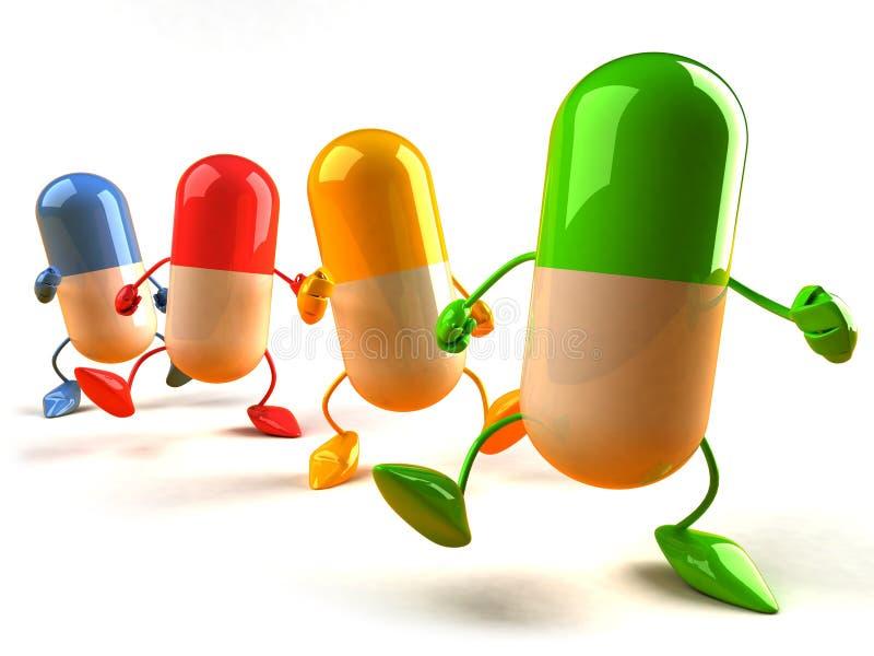 χάπια διανυσματική απεικόνιση