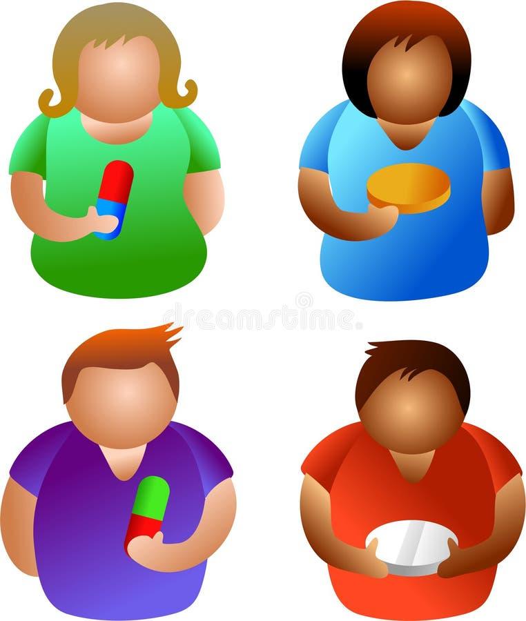 Download χάπι ανθρώπων απεικόνιση αποθεμάτων. εικονογραφία από ταμπλέτες - 394327