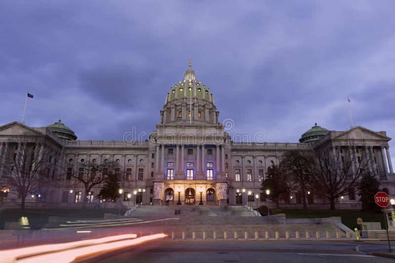 Χάρισμπουργκ - κτήριο κρατικού Capitol στοκ εικόνες