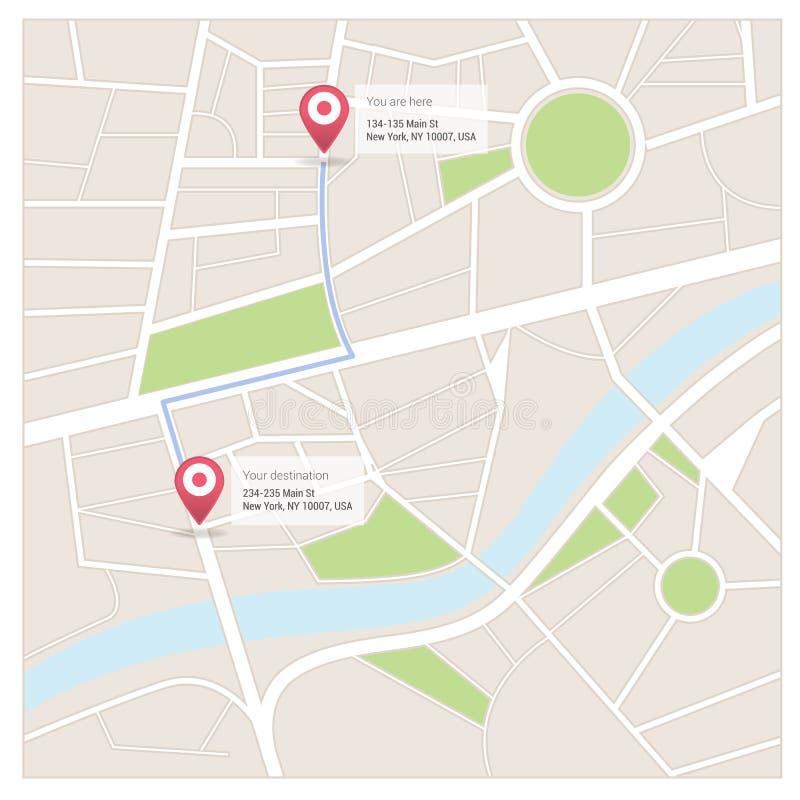 Χάρτες και προορισμοί διανυσματική απεικόνιση