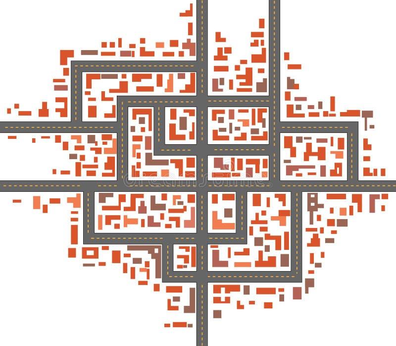 Χάρτες πόλεων ελεύθερη απεικόνιση δικαιώματος