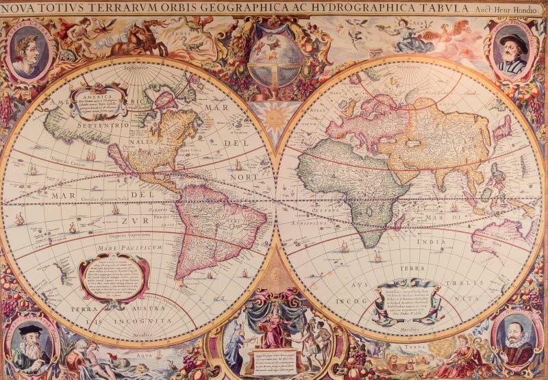 Χάρτες του αρχαίου κόσμου στοκ εικόνες