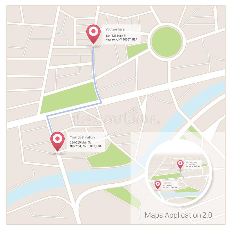Χάρτες app ελεύθερη απεικόνιση δικαιώματος