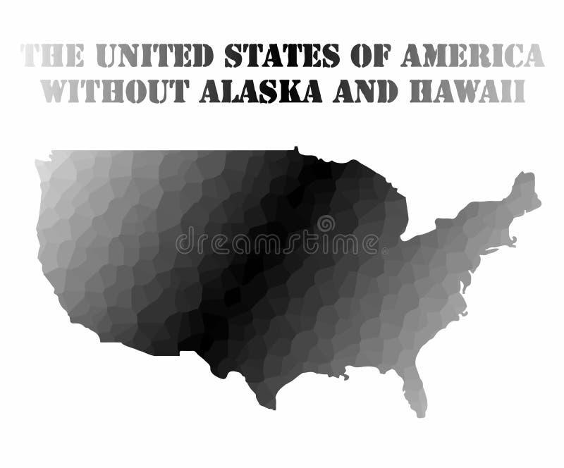Χάρτης έννοιας των ΗΠΑ ελεύθερη απεικόνιση δικαιώματος