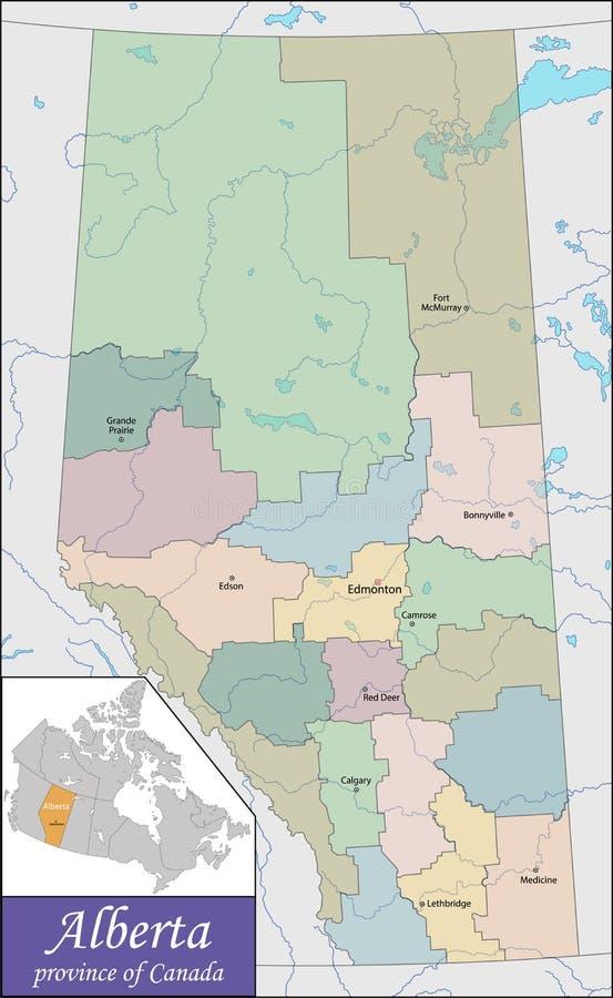 Χάρτης Αλμπέρτα ελεύθερη απεικόνιση δικαιώματος