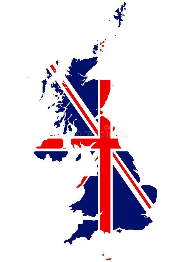 χάρτης βασίλειων σημαιών της Αγγλίας που ενώνεται απεικόνιση αποθεμάτων