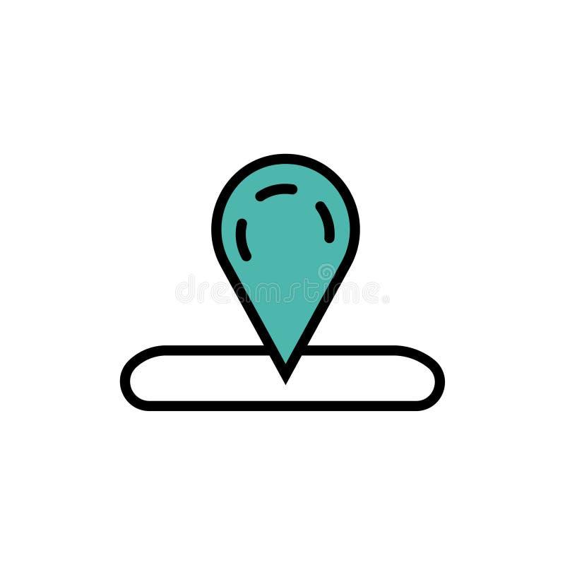 Χάρτης, εικονίδιο θέσης ελεύθερη απεικόνιση δικαιώματος