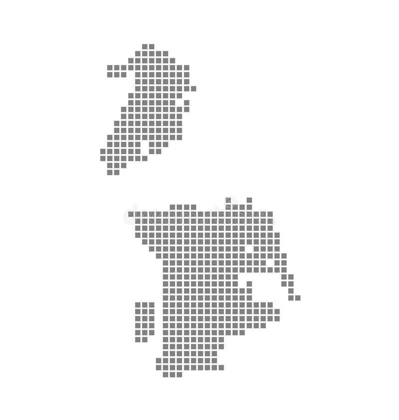 Χάρτης εικονοκυττάρου του Μακάο Διαστιγμένος διάνυσμα χάρτης του Μακάο που απομονώνεται στο άσπρο υπόβαθρο Αφηρημένος υπολογιστής ελεύθερη απεικόνιση δικαιώματος