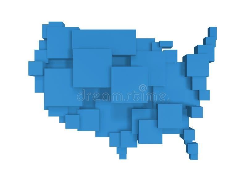 χάρτης ΗΠΑ κιβωτίων ελεύθερη απεικόνιση δικαιώματος