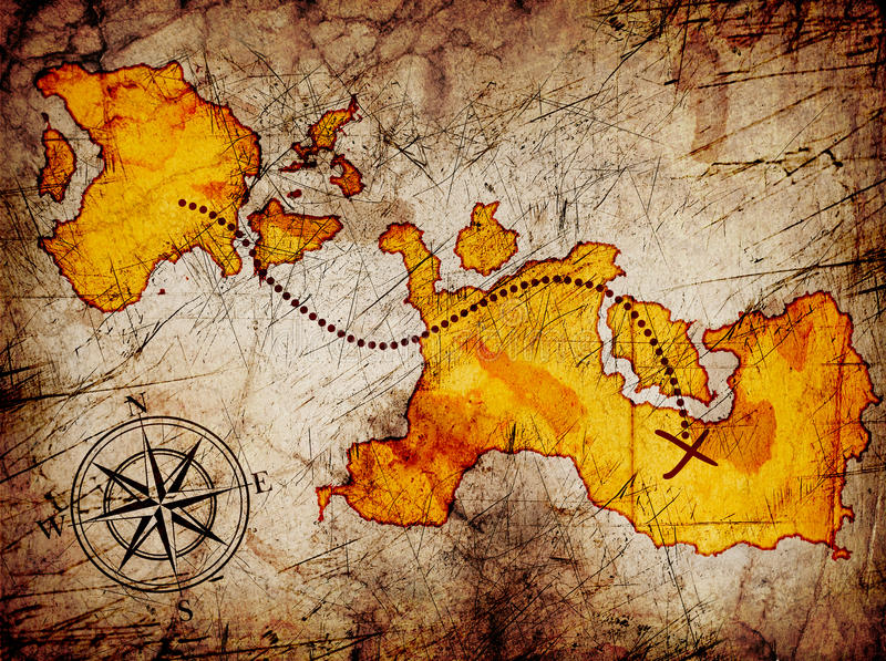 Χάρτης θησαυρών στοκ φωτογραφίες