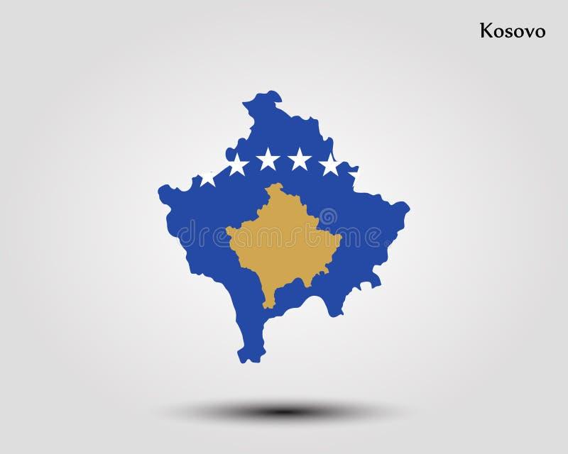Χάρτης Κοσόβου διανυσματική απεικόνιση