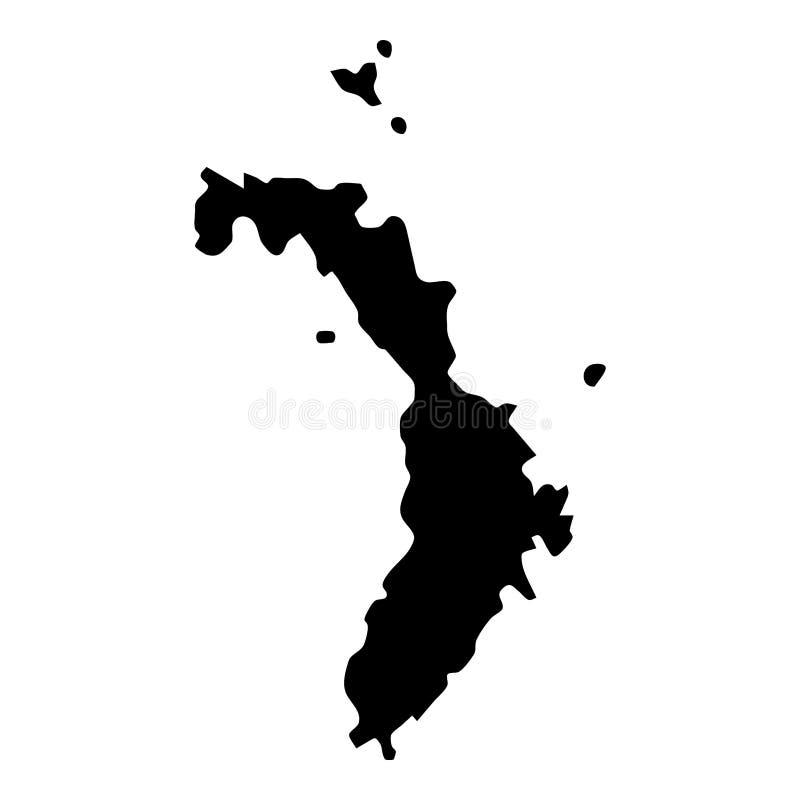 Χάρτης Λόρδου Howe Island απεικόνιση αποθεμάτων